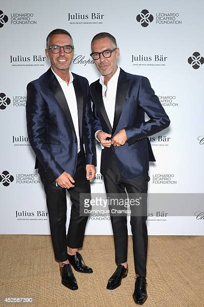 Dean and Dan Caten attend the Leonardo Dicaprio Gala at Domaine Bertaud Belieu on July 23 2014 in SaintTropez France