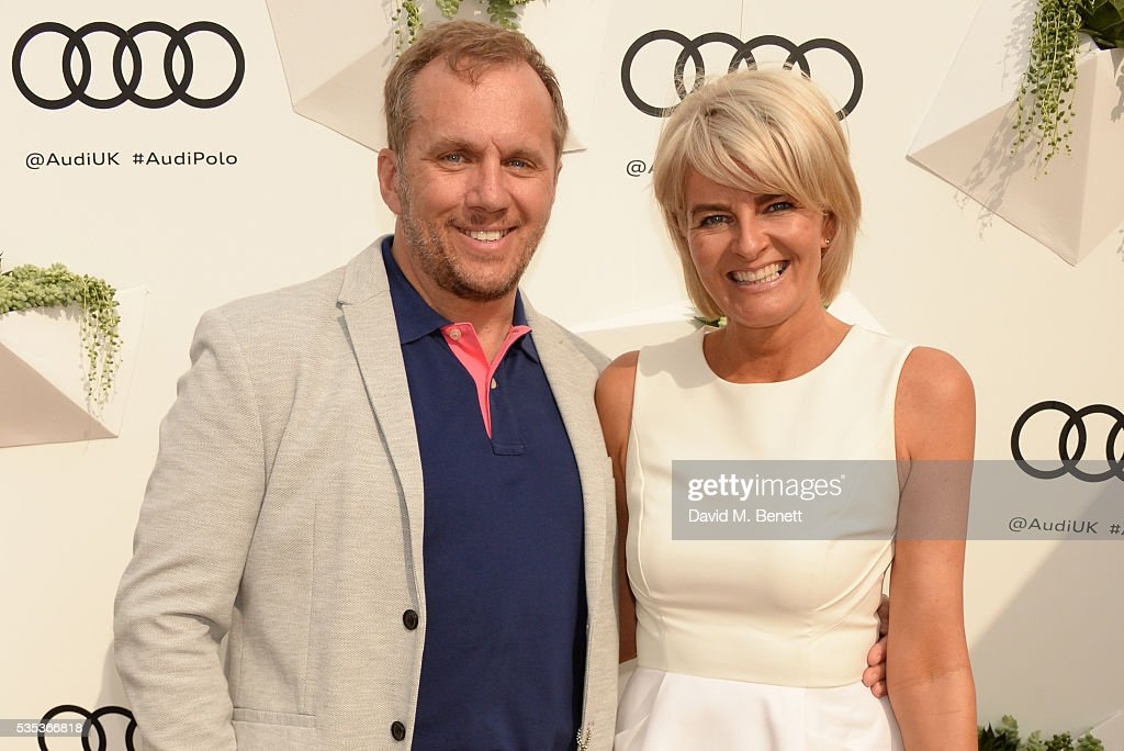 Dean Andrews (L) and Helen Bowen-Green attend day two of the Audi Polo Challenge at Coworth Park on May 29, 2016 in London, England.