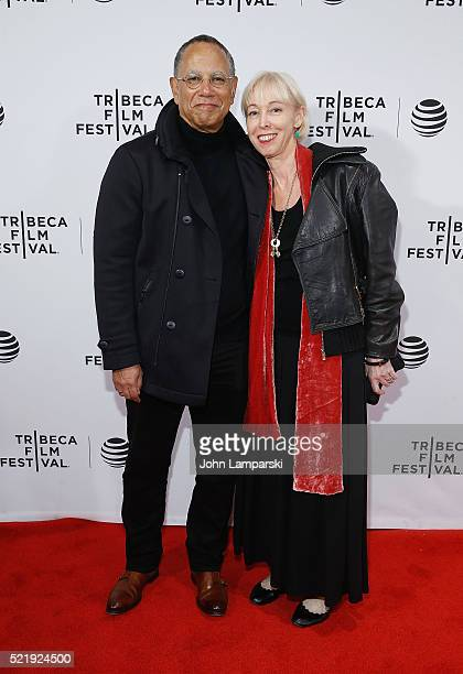 Dean Baquet and Dylan Landis attend 'Obit' Premeire during 2016 Tribeca Film Festival at Chelsea Bow Tie Cinemas on April 17 2016 in New York City