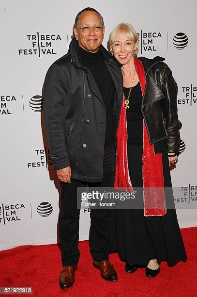 Dean Baquet and Dylan Landis attend 'Obit' Sreening 2016 Tribeca Film Festival at Chelsea Bow Tie Cinemas on April 17 2016 in New York City