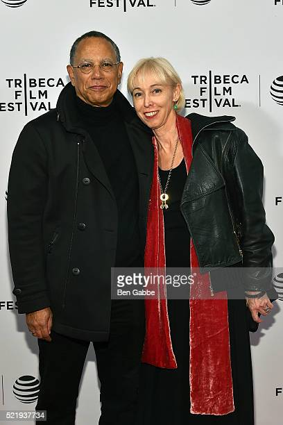 Dean Baquet and Dylan Landis attend the 'Obit' Premiere during the 2016 Tribeca Film Festival at Chelsea Bow Tie Cinemas on April 17 2016 in New York...