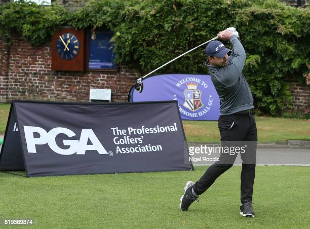 Dean Beaver of Scottsdale Golf UK during the Golfbreakscom PGA Fourball Championship North Qualifier at Woodsome Hall Golf Course on July 20 2017 in...
