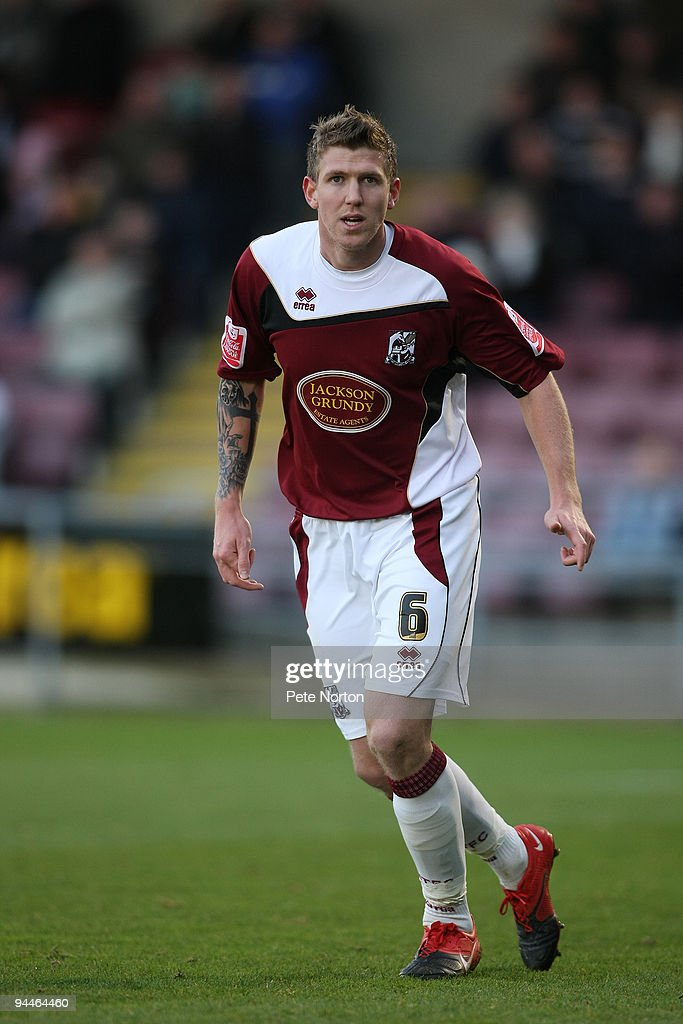 Dean Beckwith of Northampton Town in action during the Coca Cola League Two Match between Northampton Town and Port Vale at Sixfields Stadium on December 12, 2009 in Northampton, England.