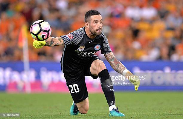 Dean Bouzanis of Melbourne City in action during the round five ALeague match between the Brisbane Roar and Melbourne City FC at Suncorp Stadium on...
