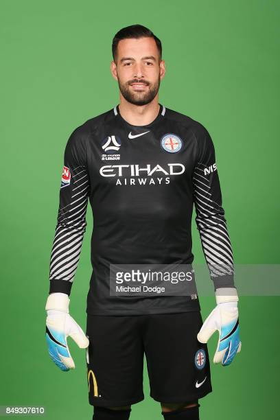 Dean Bouzanis poses during the Melbourne City 2017/18 ALeague season headshots session Fox Footy Studios on September 19 2017 in Melbourne Australia