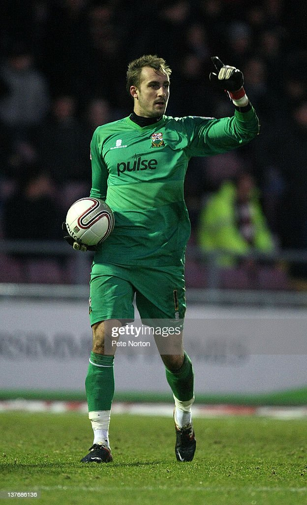 Dean Brill of Barnet in action during the npower League Two match between Northampton Town and Barnet at Sixfields Stadium on January 21, 2012 in Northampton, England.