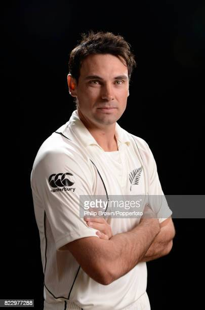 Dean Brownlie of New Zealand poses for the camera during the New Zealand Cricket Headshots photo session before the Test series against England at...