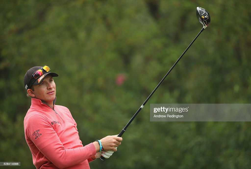 Dean Burmester of South Africa in action during the first round of the Trophee Hassan II at Royal Golf Dar Es Salam on May 5, 2016 in Rabat, Morocco.