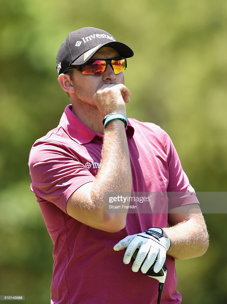 Dean Burmester of South Africa looks on from the 3rd tee during the final round of the Tshwane Open at Pretoria Country Club on February 14, 2016 in Pretoria, South Africa.