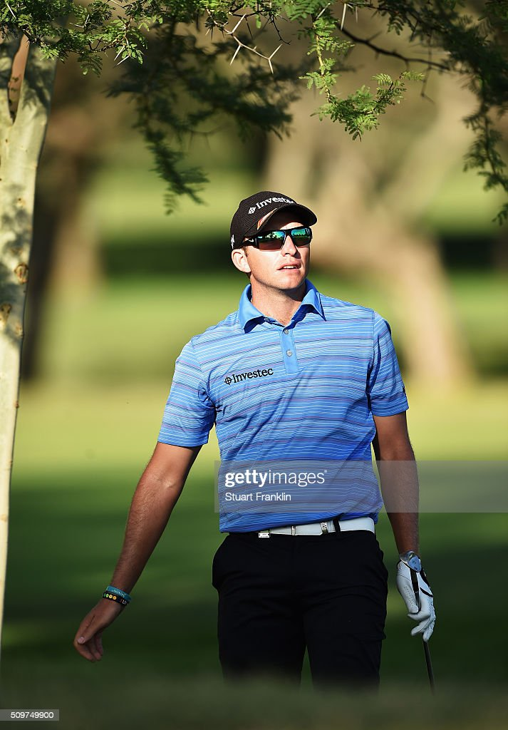 Dean Burmester of South Africa plays a shot during the second round of the Tshwane Open at Pretoria Country Club on February 12, 2016 in Pretoria, South Africa.