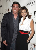 Dean Cain and Teri Hatcher during Launch Party for Teri Hatcher's Book 'Burnt Toast and Other Philosophies of Life' Arrivals at Book Soup/Aqua...