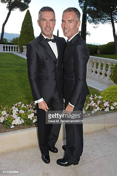 Dean Caten and Dan Caten arrive at amfAR's 22nd Cinema Against AIDS Gala Presented By Bold Films And Harry Winston at Hotel du CapEdenRoc on May 21...