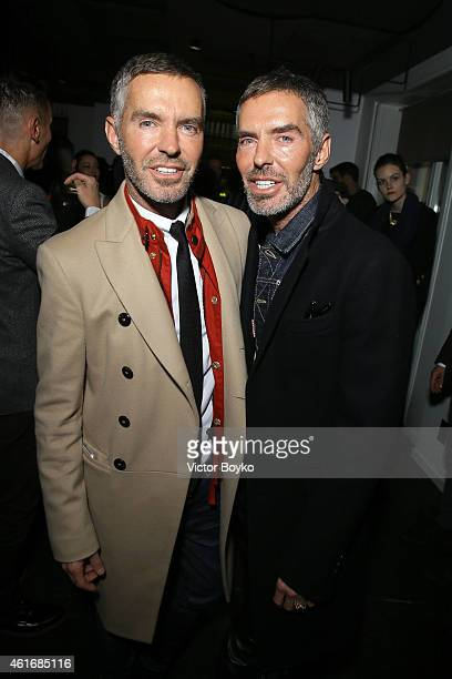 Dean Caten and Dan Caten attend the GQ Party as a part of Milan Menswear Fashion Week Fall Winter 2015/2016 on January 17 2015 in Milan Italy