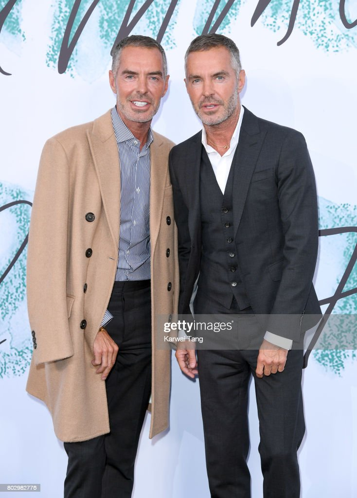 Dean Caten and Dan Caten attend The Serpentine Gallery Summer Party at The Serpentine Gallery on June 28, 2017 in London, England.