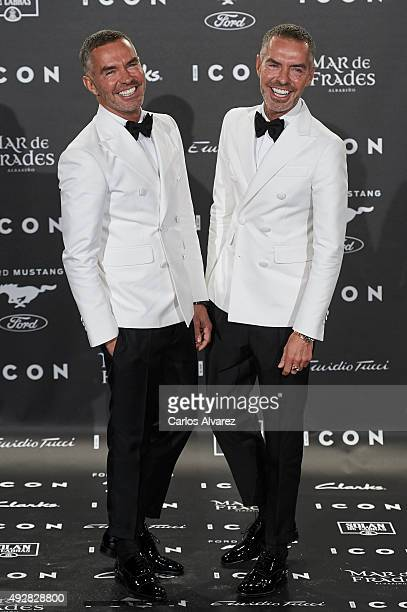 Dean Caten and Dan Caten designers of Dsquared attend the ICON Magazine Fashion awards at the 'Casa de Velazquez' on October 15 2015 in Madrid Spain