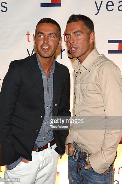 Dean Caten and Dan Caten designers of DSquared during Olympus Fashion Week Spring 2006 Tommy Hilfiger 20th Anniversary Celebration After Party...