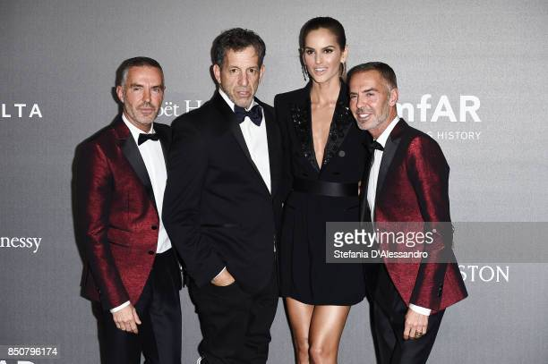 Dean Caten Kenneth Cole Dan Caten and Izabel Goulart walk the red carpet of amfAR Gala Milano on September 21 2017 in Milan Italy
