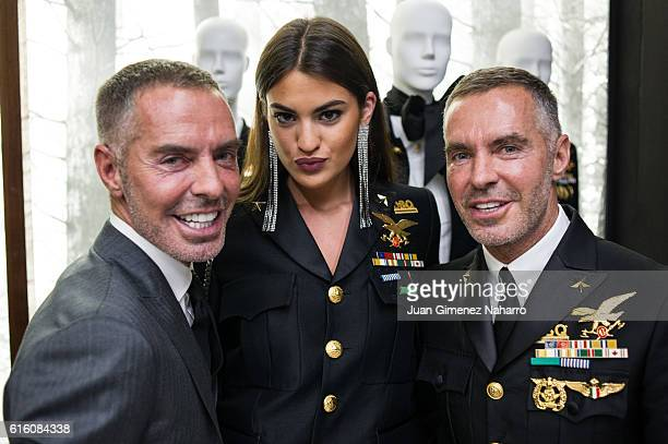 Dean Caten Marta Lozano and Dan Caten attend the Dsquared2 Opening Cocktail in the new Madrid store on October 21 2016 in Madrid Spain