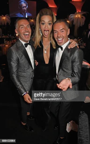 Dean Caten Rita Ora and Dan Caten attend the amfAR Gala Cannes 2017 at Hotel du CapEdenRoc on May 25 2017 in Cap d'Antibes France