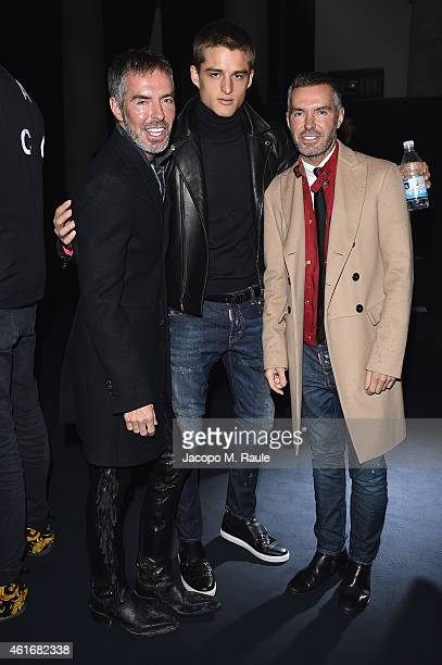 Dean Caten Silvester Ruck and Dan Caten attend the Neil Barret Show during the Milan Menswear Fashion Week Fall Winter 2015/2016 on January 17 2015...