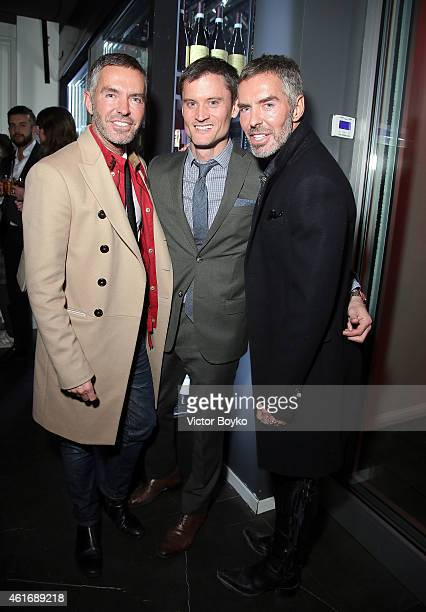 Dean Caten Tedd Stafford and Dan Caten attend the GQ Party as a part of Milan Menswear Fashion Week Fall Winter 2015/2016 on January 17 2015 in Milan...