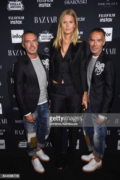 Dean Caten Toni Garrn and Dan Caten attend Harper's BAZAAR Celebration of 'ICONS By Carine Roitfeld' at The Plaza Hotel presented by Infor Laura...