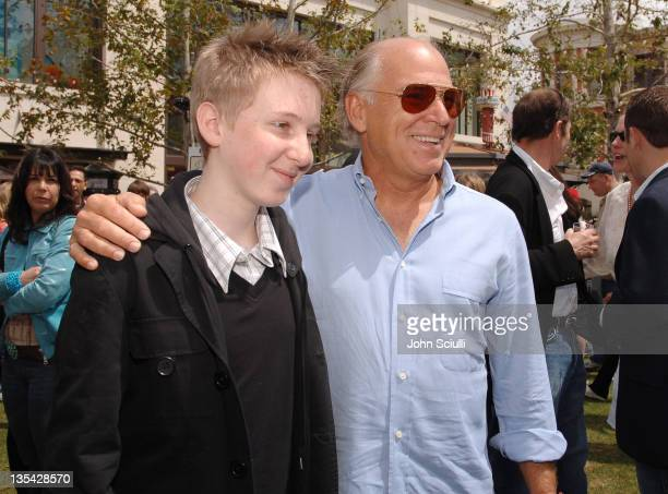 Dean Collins and Jimmy Buffett during 'Hoot' Los Angeles Premiere Red Carpet at The Grove in Los Angeles California United States