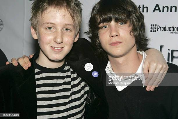 Dean Collins and Logan Lerman during 4th Annual Indie Producers Awards Gala After Party in Los Angeles California United States