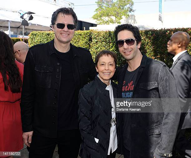 Dean Collins Stuart House director Gail Abarbanel and actor David Schwimmer attend John Varvatos 9th Annual Stuart House Benefit presented by...