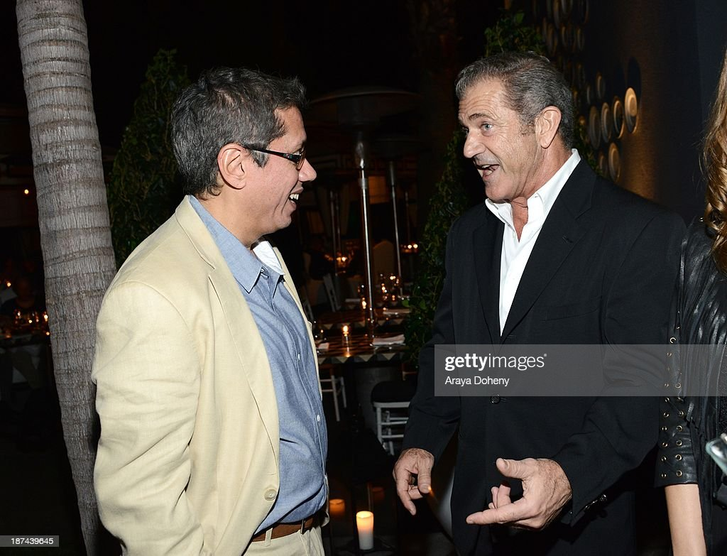 <a gi-track='captionPersonalityLinkClicked' href=/galleries/search?phrase=Dean+Devlin&family=editorial&specificpeople=540462 ng-click='$event.stopPropagation()'>Dean Devlin</a> and <a gi-track='captionPersonalityLinkClicked' href=/galleries/search?phrase=Mel+Gibson&family=editorial&specificpeople=201512 ng-click='$event.stopPropagation()'>Mel Gibson</a> attend the Electric Entertainment AFM Party at the Viceroy Hotel on November 8, 2013 in Santa Monica, California.