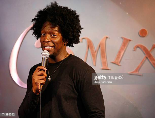 Dean Edwards performs at Sit Stay and Standup Comedy Show to benefit The Humane Society and Mighty Mutts at Comix on June 4 2007 in New York City