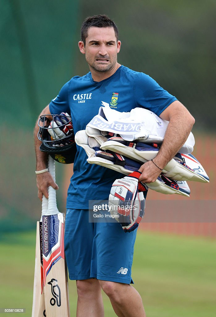 <a gi-track='captionPersonalityLinkClicked' href=/galleries/search?phrase=Dean+Elgar&family=editorial&specificpeople=8593375 ng-click='$event.stopPropagation()'>Dean Elgar</a> during the South African national cricket team training session at SuperSport Park on January 20, 2016 in Pretoria, South Africa.