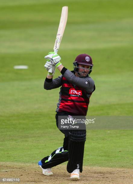 Dean Elgar of Somerset bats during the Royal London OneDay Cup between Somerset and Surrey at The Cooper Associates County Ground on April 28 2017 in...