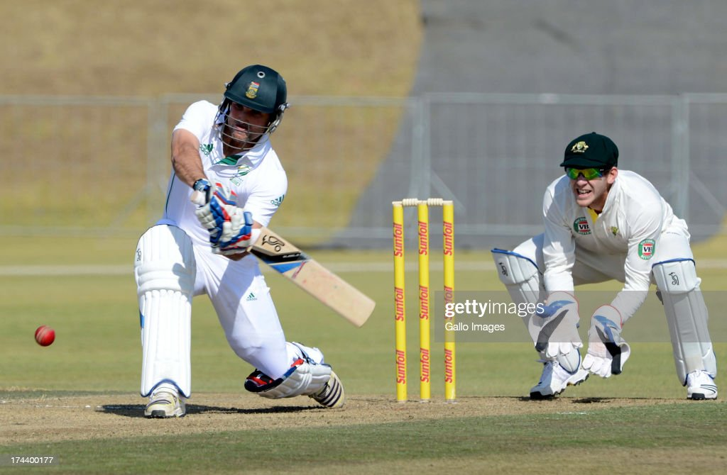 Dean Elgar of South Africa A during day 2 of the 1st Test match between South Africa A and Australia A at Tuks Oval on July 25, 2013 in Pretoria, South Africa.