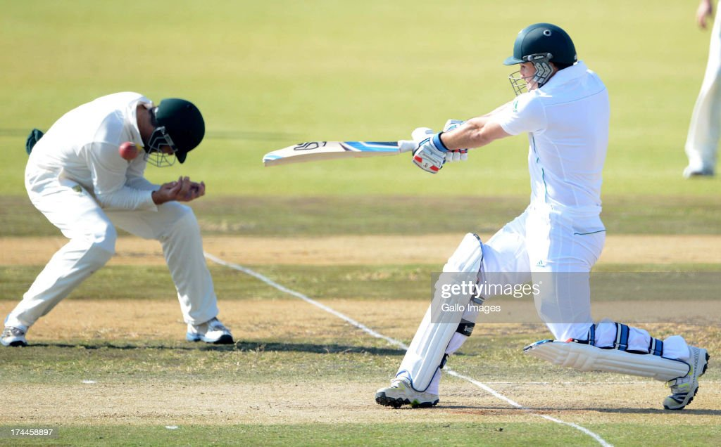 Dean Elgar of South Africa A during day 3 of the 1st Test match between South Africa A and Australia A at Tuks Oval on July 26, 2013 in Pretoria, South Africa.