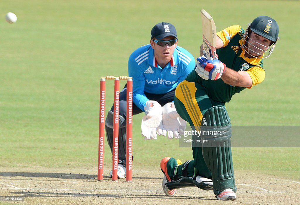 <a gi-track='captionPersonalityLinkClicked' href=/galleries/search?phrase=Dean+Elgar&family=editorial&specificpeople=8593375 ng-click='$event.stopPropagation()'>Dean Elgar</a> of South Africa A in action during the 5th ODI match between South Africa A and England Lions at Sahara Park Willowmoore on February 05, 2015 in Benoni, South Africa.
