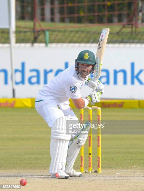 Dean Elgar of South Africa during day 3 of the 1st Sunfoil Test match between South Africa and Bangladesh at Senwes Park on September 30 2017 in...