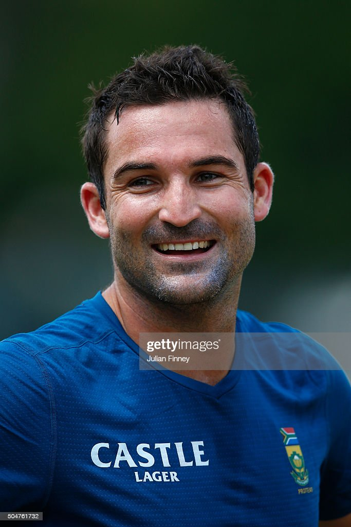 <a gi-track='captionPersonalityLinkClicked' href=/galleries/search?phrase=Dean+Elgar&family=editorial&specificpeople=8593375 ng-click='$event.stopPropagation()'>Dean Elgar</a> of South Africa looks on during South Africa media access at the Wanderers Stadium on January 13, 2016 in Johannesburg, South Africa.