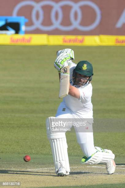 Dean Elgar of the Proteas during day 1 of the 1st Sunfoil Test match between South Africa and Bangladesh at Senwes Park on September 28 2017 in...