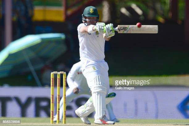 Dean Elgar of the Proteas during day 1 of the 2nd Sunfoil Test match between South Africa and Bangladesh at Mangaung Oval on October 06 2017 in...