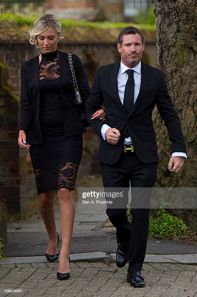<a gi-track='captionPersonalityLinkClicked' href=/galleries/search?phrase=Dean+Gaffney&family=editorial&specificpeople=224035 ng-click='$event.stopPropagation()'>Dean Gaffney</a> (R) attends the funeral of entertainer, producer and reality television star David Gest at Golders Green Crematorium on April 29, 2016 in London, England.