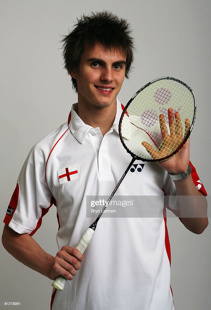 Dean George poses for a photo prior to a training session at the National Badminton Centre on May 22, 2008 in Milton Keynes, England.