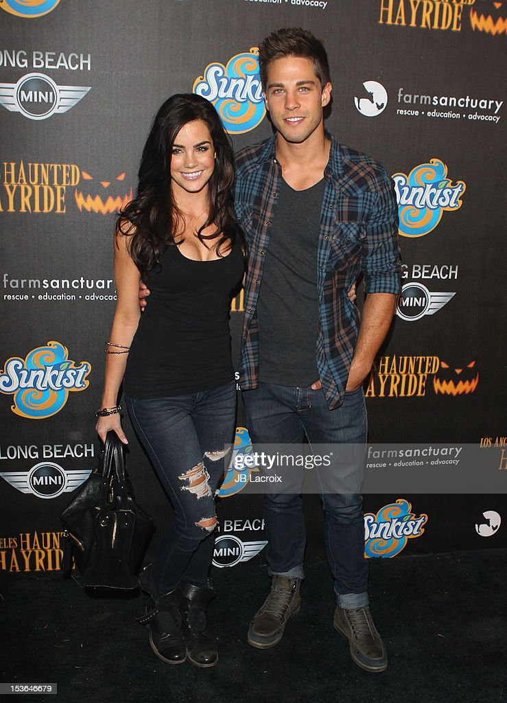 Dean Geyer and Guest attend the 4th Annual Los Angeles Haunted Hayride at Griffith Park on October 7 2012 in Los Angeles California