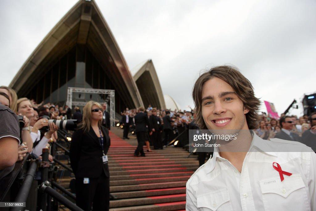 Dean Geyer during 'Australian Idol' Grand Finale Red Carpet at Sydney Opera House in Sydney NSW Australia