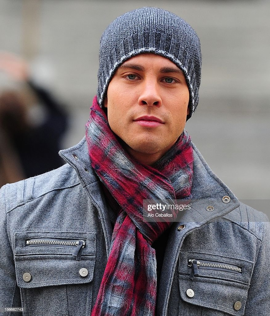 Dean Geyer is seen on the set of 'Glee' on the streetss of Manhattan on November 18 2012 in New York City