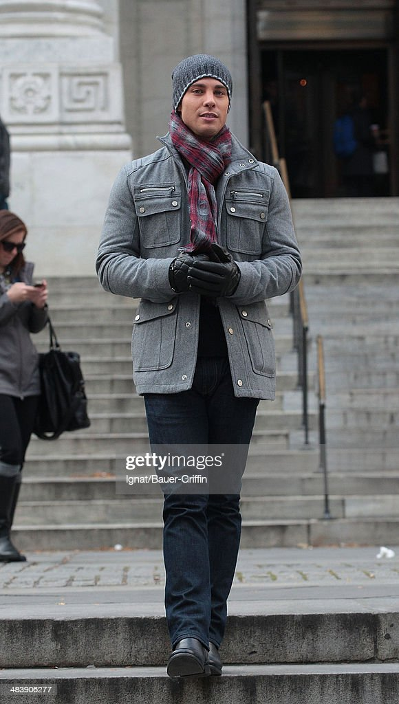 Dean Geyerin is seen on movie set of 'Glee' on November 18 2012 in New York City