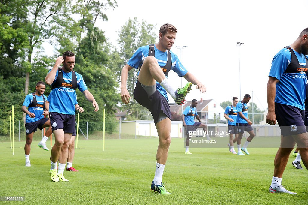 Dean Hammond during the Leicester City training session at their pre-season training camp on July 14, 2015 in Spielfeld, Austria.