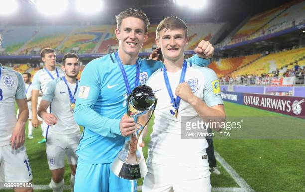 Dean Henderson and Callum Connolly of England celebrate with the trophy after the FIFA U20 World Cup Korea Republic 2017 Final match between...