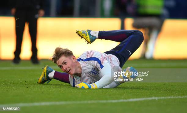 Dean Henderson of England U21 during the UEFA Under 21 Championship Qualifier match between England and Latvia at Vitality Stadium on September 5...