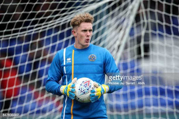 Dean Henderson of Shrewsbury Town during the Sky Bet League One match between Oldham Athletic and Shrewsbury Town at Boundary Park on September 16...